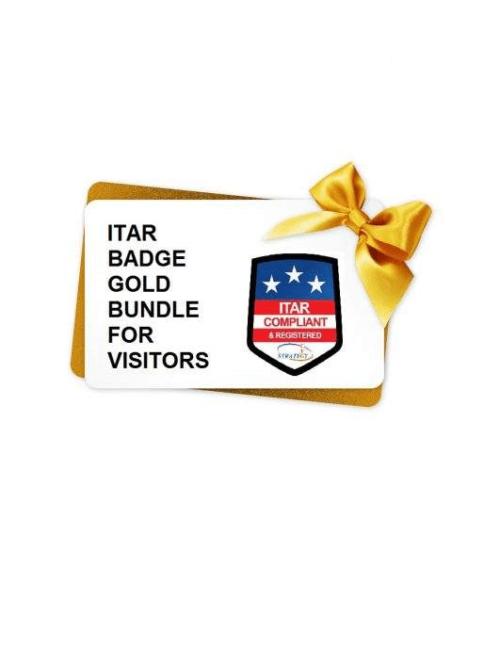 ITAR Badge Gold Bundle for visitors