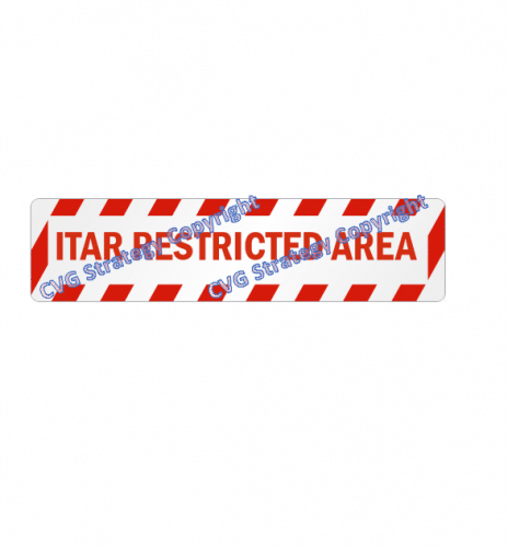 ITAR Anti-Skid Floor Sign