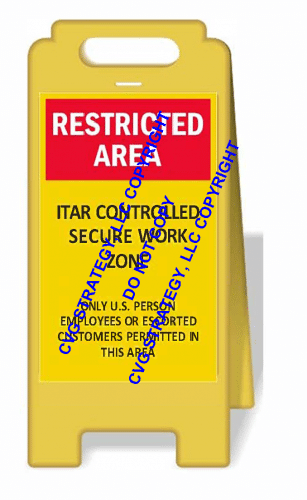 ITAR Floor Stand Sign